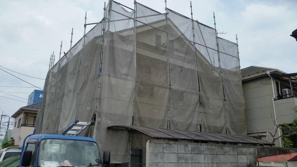 【西東京市】屋根コロニアル上 カバー工法コーキング打ち替え工事